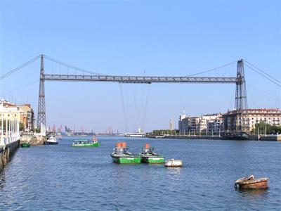 puente colgante bilbao