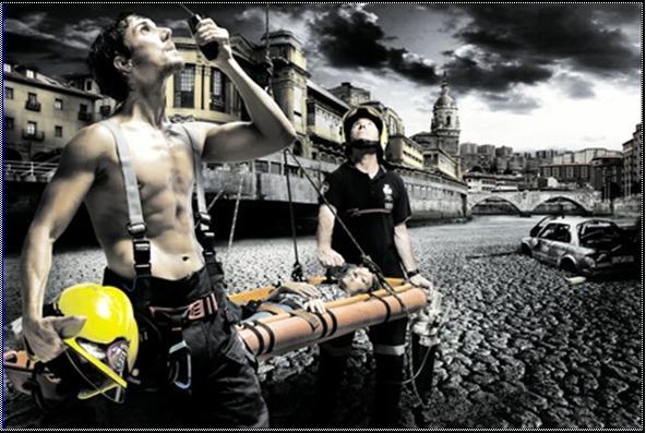 Calendario bomberos de Bilbao 2009