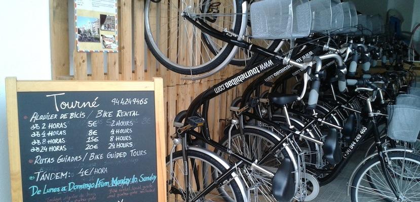 Alquiler bicis Tourné Bilbao